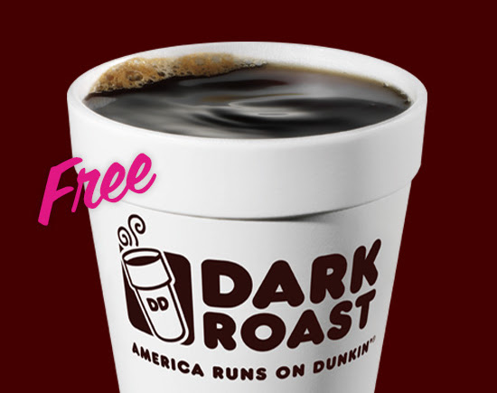 Free Coffee at Dunkin Donuts