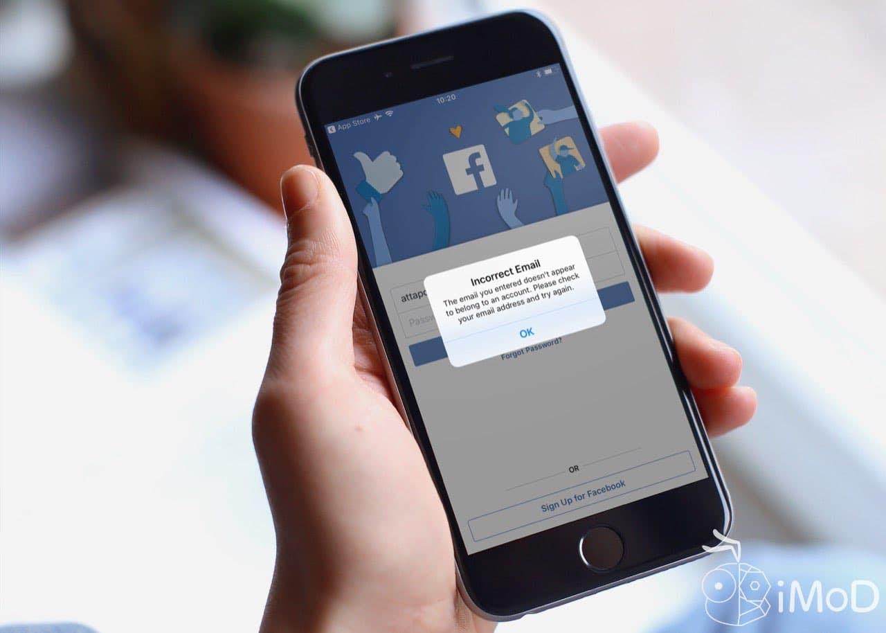 พบแอป Facebook บน iOS ล้อคอินเข้าใช้งานได้แม้อีเมลไม่ถูกต้อง