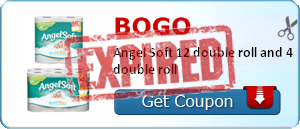 BOGO Angel Soft 12 double roll and 4 double roll