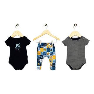 Kit Bebê Menino Infantil Calca / Body Elian