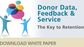 Increase donor loyalty and retention - Donor Data, Feedback and Service - CDS Global