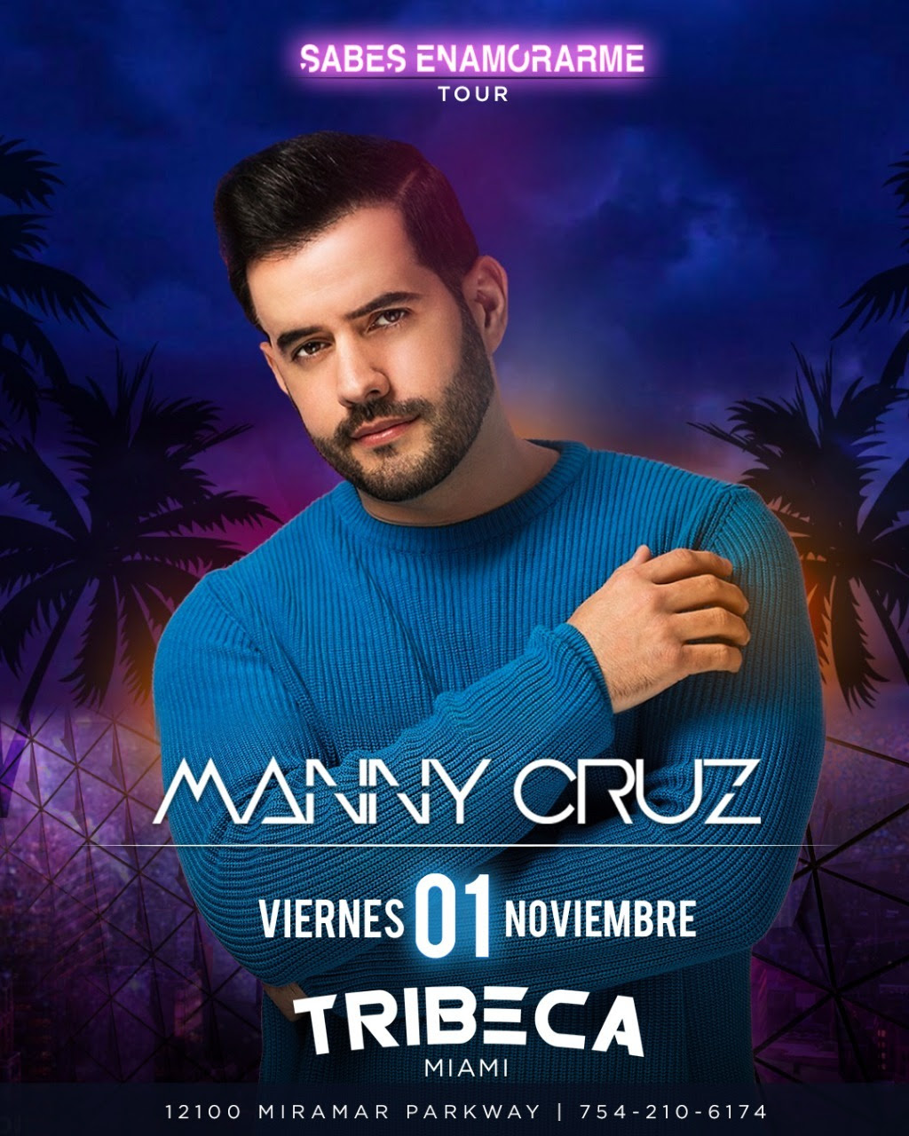 Manny Cruz se presentará en Miami
