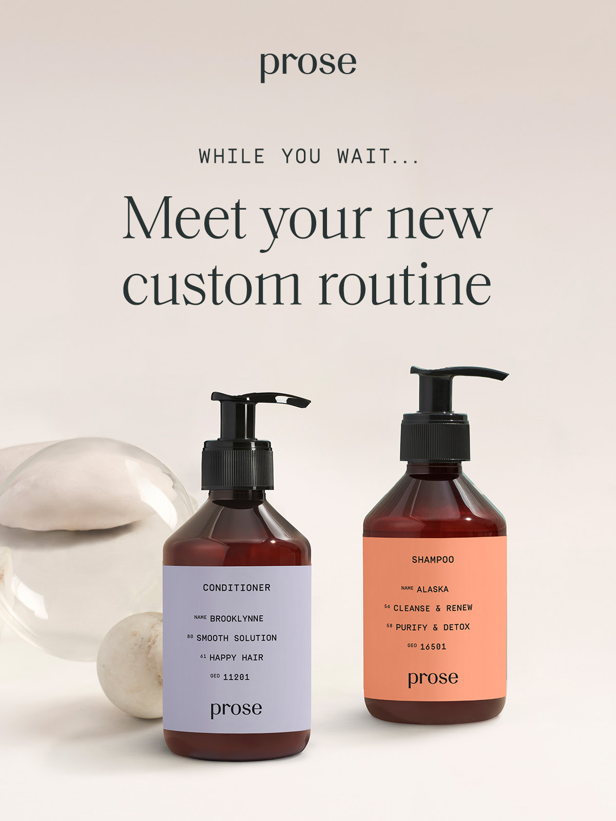 While you wait... Meet your new custom routine