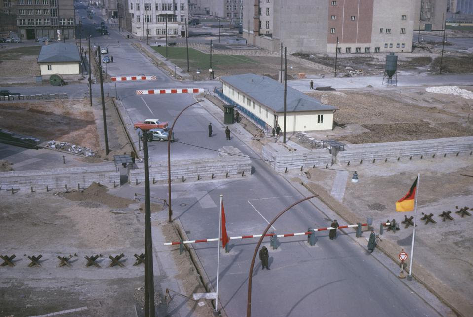 'Checkpoint Charlie' In West Berlin
