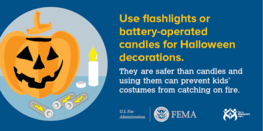 Use flashlights or battery-operated candles for Halloween