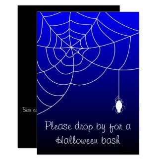 Social Spider Halloween Invitation