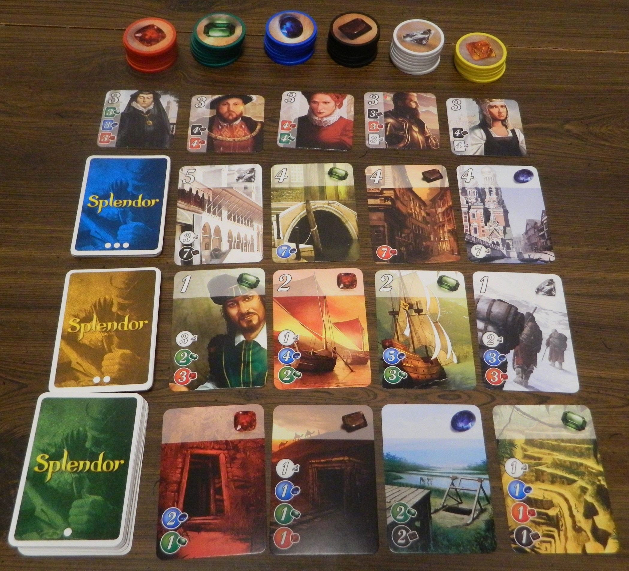 Splendor Board Game Review and Rules | Geeky Hobbies