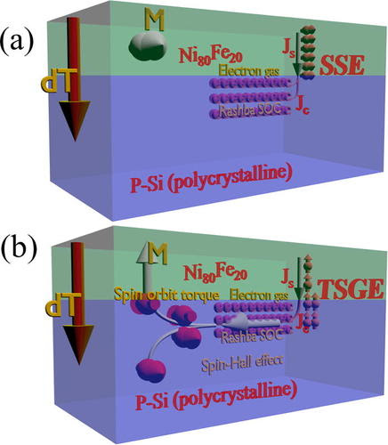 Spin Seebeck effect and thermal spin galvanic effect in Ni80Fe20/p-Si bilayers