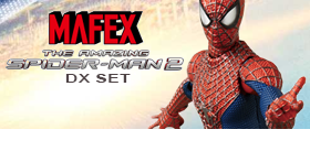 MAFEX AMAZING SPIDER-MAN 2 DELUXE SET