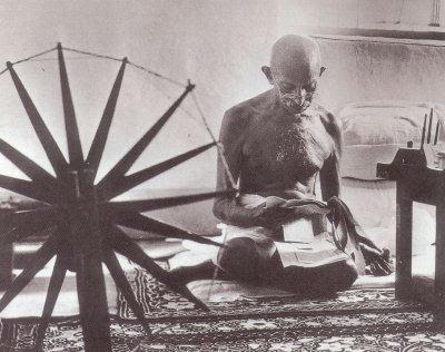 Gandhi with Ratinam