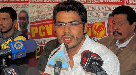 El Secretario General del Consejo Central de la Juventud Comunista de Venezuela (JCV), Héctor Rodríguez Montaño