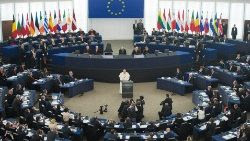 El Papa Francisco en Estrasburgo, Parlamento Europeo, Unión Europea