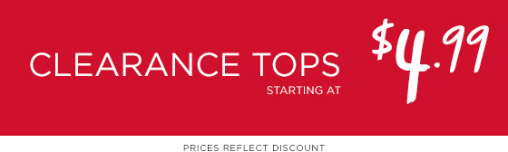 Clearance Tops Shop Now