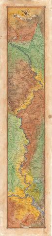 Ohio River Ribbon Map