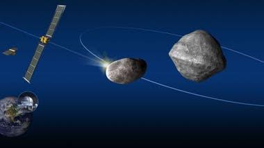 Cuando DART choque contra Dimorphos, los telescopios desde la Tierra podrán observar la variación de la órbita respecto a Didymos.