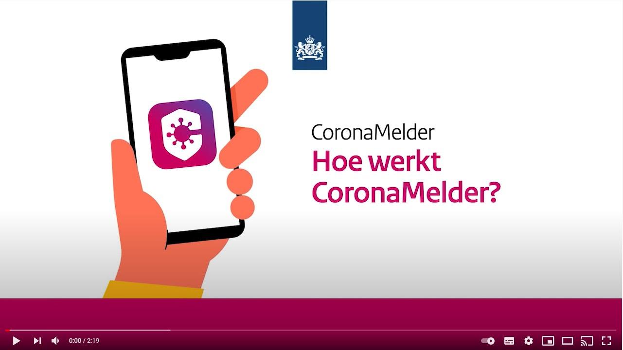 Bekijk video: Hoe werkt CoronaMelder?