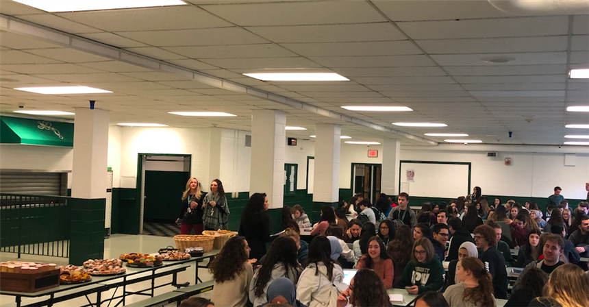 Students at Superintendent's Breakfast; photo credit: Bushra Choudhury '19