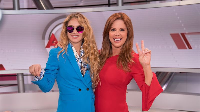 Photos Paulina Rubio as Celebrity guest at Telemundo Center