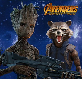 INFINITY WAR GROOT & ROCKET 1/6TH SCALE COLLECTIBLE FIGURES