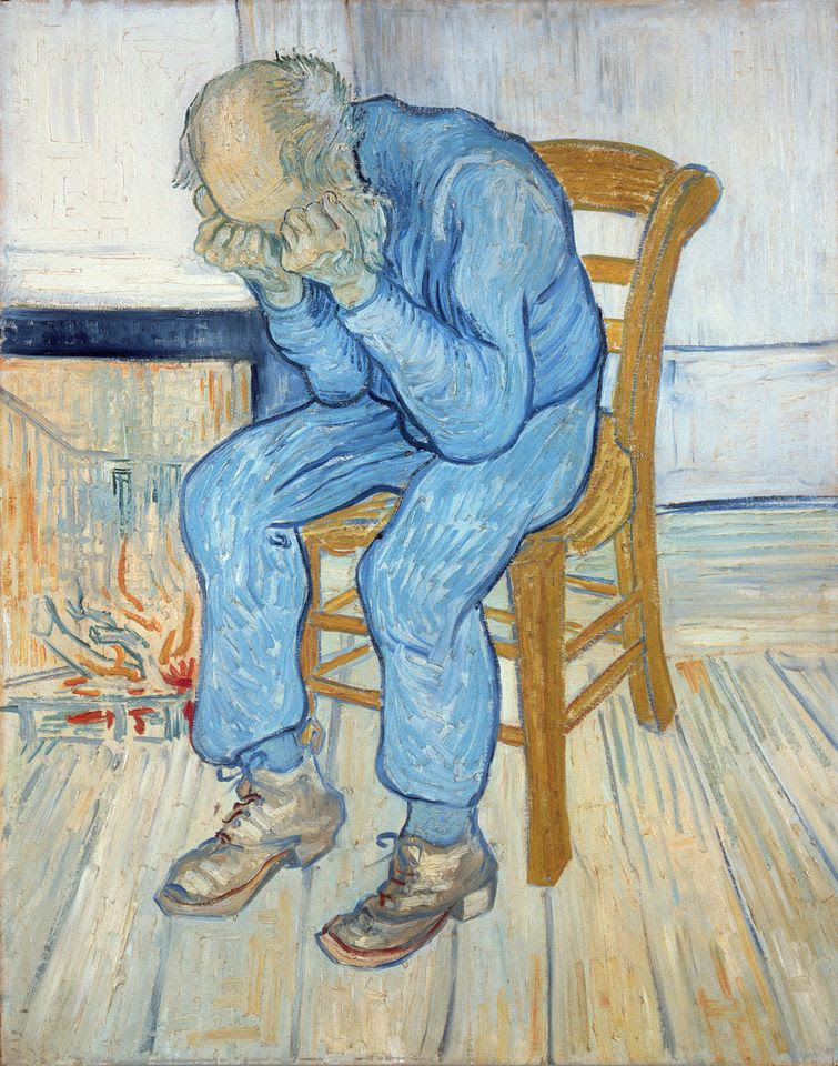 Van Gogh, At Eternity's Gate (painting), May 1890