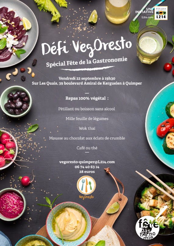 menu vegan à Quimper