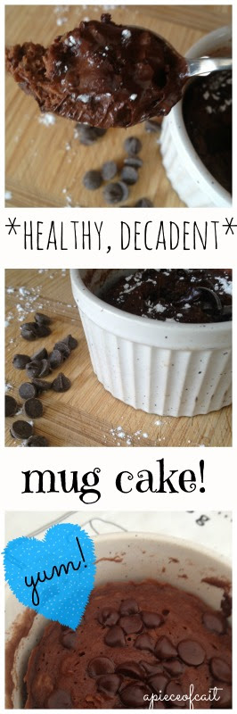 Healthy, decadent chocolate mug cake! { recipe }