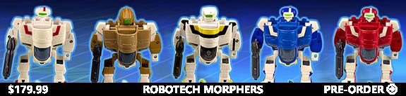 ROBOTECH MORPHERS BOX OF 15 SUPER DEFORMED FIGURES