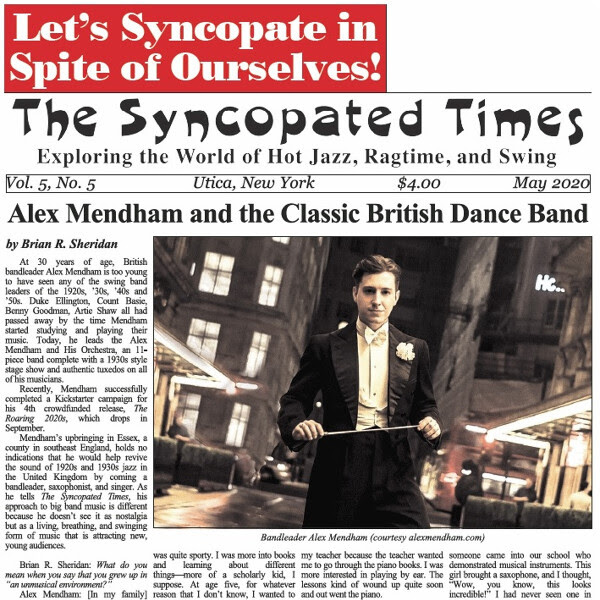 Syncopated Times 2020-05 May cover detail