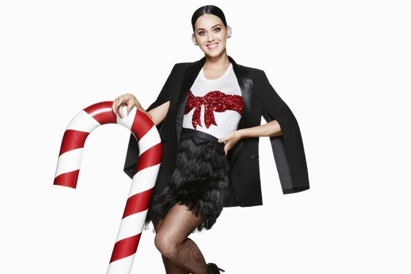 H&M: the retailer's Christmas campaign stars Katy Perry
