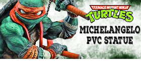 TEENAGE MUTANT NINJA TURTLES PVC MICHELANGELO STATUE