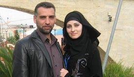 Ukraine-born Elena Hamida with her Palestinian husband Hazem in Gaza.