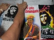 A T-shirt showing support for former Venezuelan President Hugo Chavez in Caracas, Jan 4, 2013.