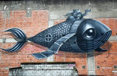 The Summer of Dis-loyalty group hopes participants will take in some of Whanganui's street art as they move around the city. Photo / Bevan Conley