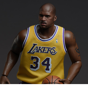 NBA Real Masterpiece Shaquille O'Neal (Lakers Home) 1/6 Scale Figure
