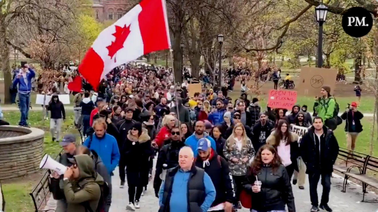 Toronto Police Make No Arrests, Allow Anti-Lockdown Protest to Proceed One Day After Doug Ford's Restrictive Lockdown Measures Pm-1320x743