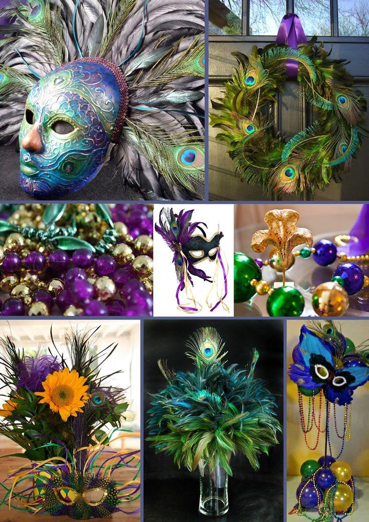 masquerade decorations | Peacock inspired mardi gras - Inspiration Bug | Blog