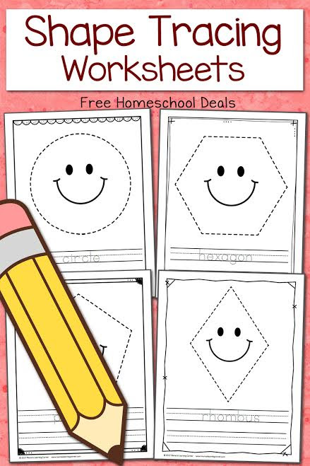 FREE SHAPE TRACING WORKSHEETS (Instant Download)