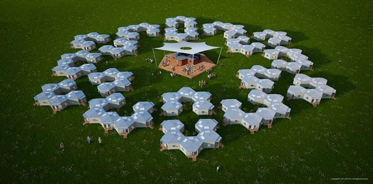 Бизнес идея №5709. Шестиугольные дома для беженцев