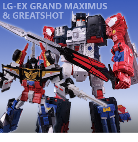 TRANSFORMERS LEGENDS LG-EX GREATSHOT & GRAND MAXIMUS