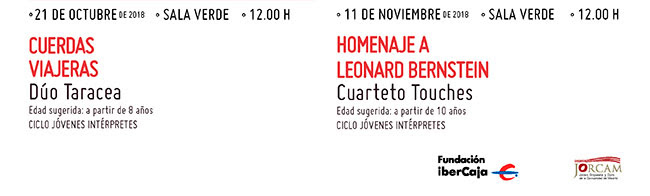 21 octubre 12:00 h Cuerdas viajeras // 11 noviembre 12:00 h. Homenaje a Leonard Bernstein