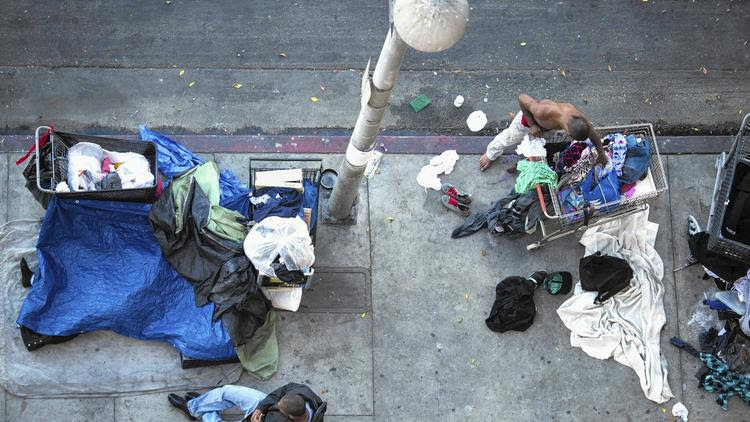 Skid row homelessness