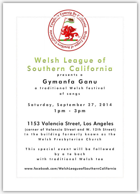 Enable images to view Gymanfa Ganu - Welsh Event in Los Angeles