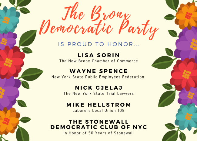 100PercentBronx: The Bronx Democratic Party - 2019 Dinner