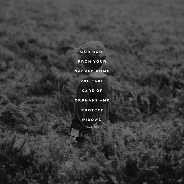 Psalms 68:5 CEV