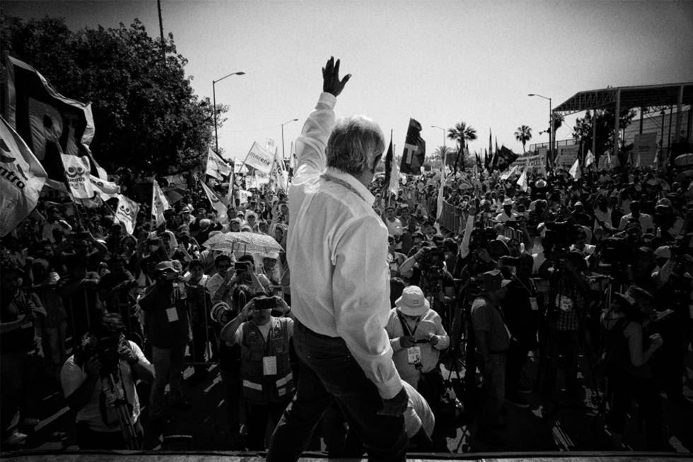 López Obrador durante su campaña en 2018.