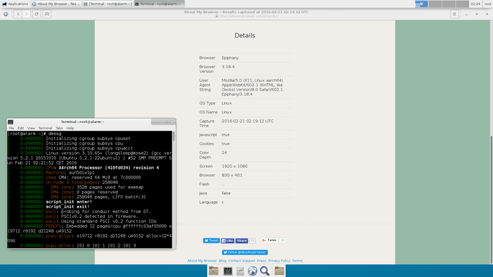 Another screen grab off Archlinux