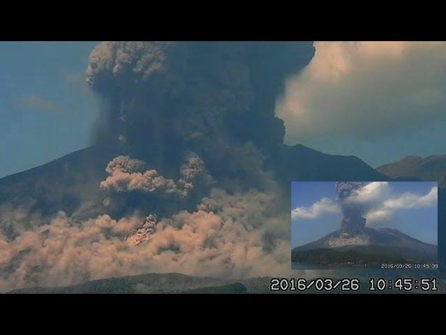 3/28/2016 -- Large eruption in South Japan at Sakurajima Volcano Sddefault