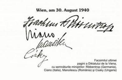 30 August 1940 - Diktatul de la Viena. Zi neagră în istoria României 4