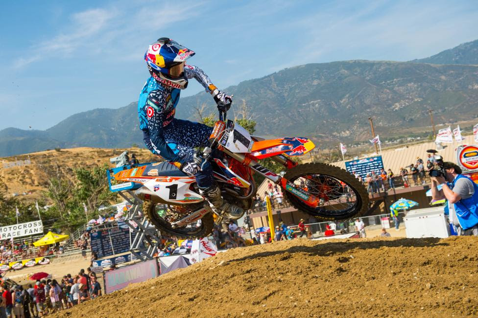 Dungey earned the final Lucas Oil Pro Motocross Championship victory of his career last season at Glen Helen.Photo Courtesy: MX Sports Pro Racing / Simon Cudby