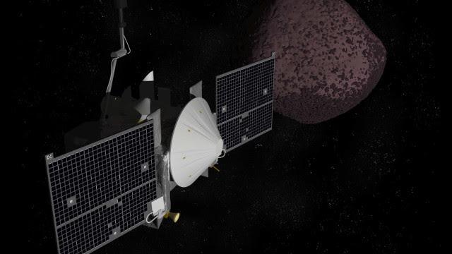 Sonda conclui a primeira coleta de amostra em um asteroide feita pela Nasa